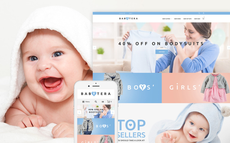 Babytera - Baby Store Magento Theme New Screenshots BIG