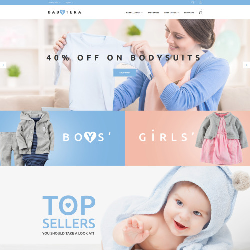 Babytera  - Magento Template based on Bootstrap