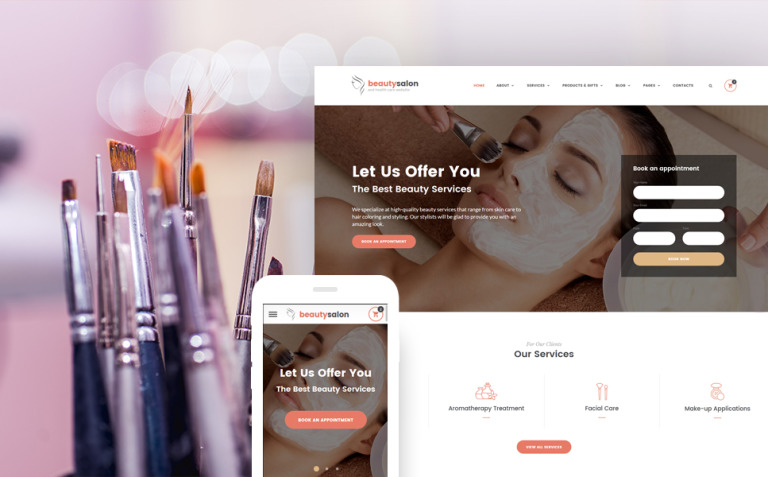 Beauty Salon Responsive Website Template New Screenshots BIG