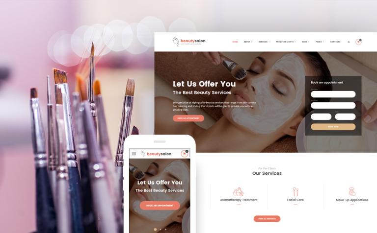 Beauty Salon Responsive Website Template New Screenshots BIG