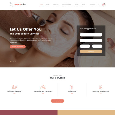 54 best salon website templates templatemonster
