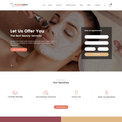 Beauty salon websites templates free download ease template.