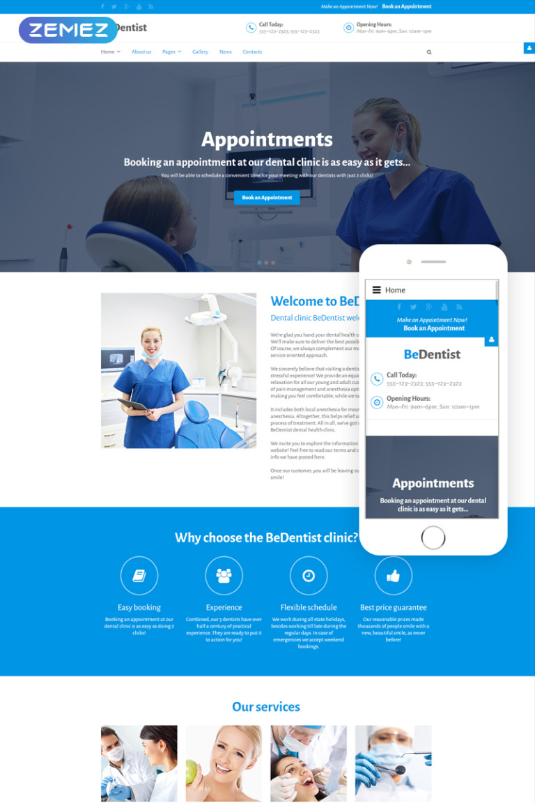 BeDentist Joomla Template New Screenshots BIG