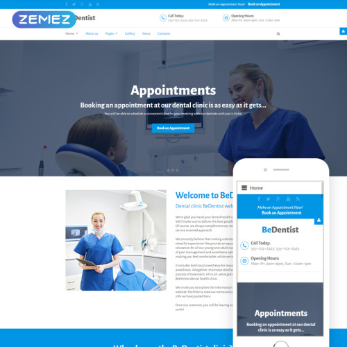BeDentist - Joomla! Template based on Bootstrap