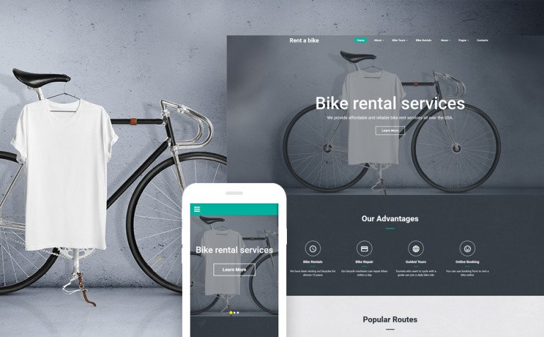 Bike Shop Website Template New Screenshots BIG