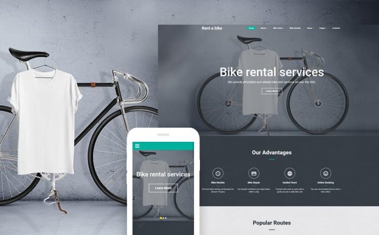 Bike Shop Website Template New Screenshots BIG