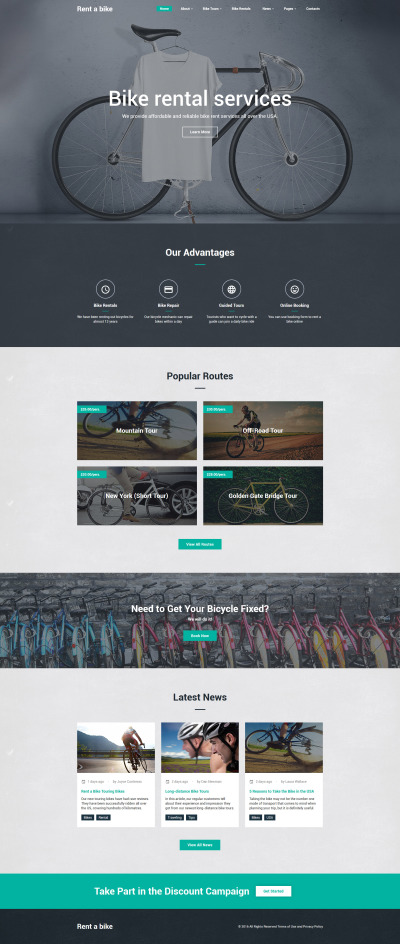 Bike Shop Website Template