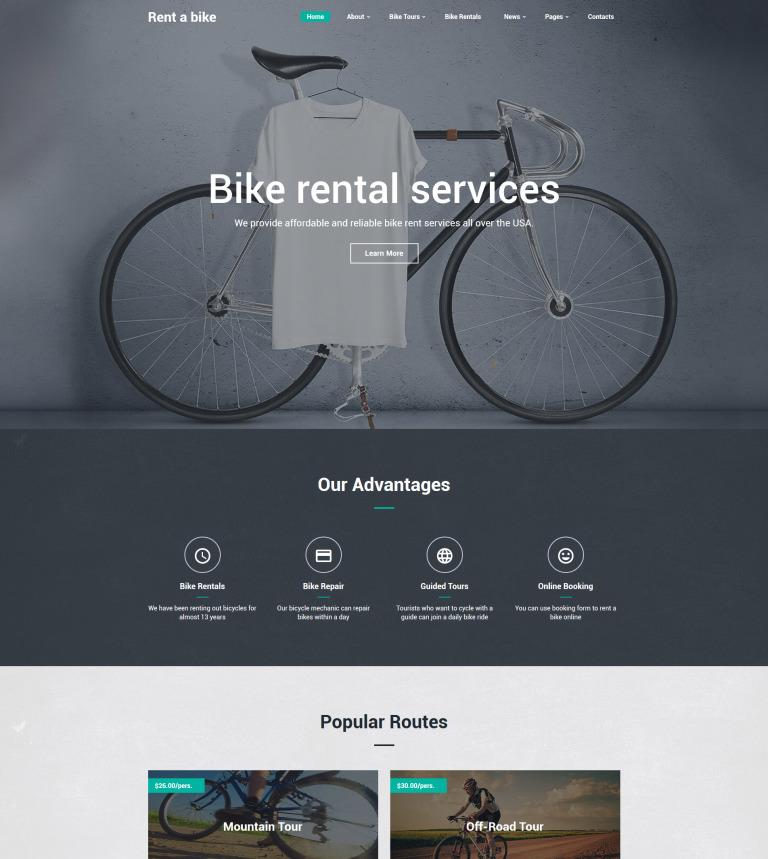 Bike Website Template New Screenshots