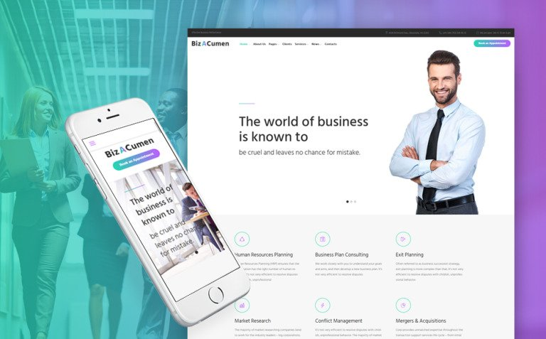 BizACumen - Consulting WordPress Theme New Screenshots BIG