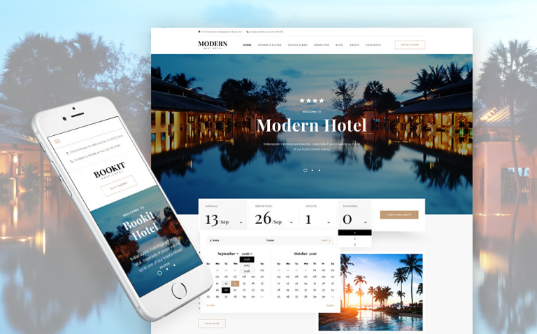 Bookit - Small Hotel WordPress Theme New Screenshots BIG
