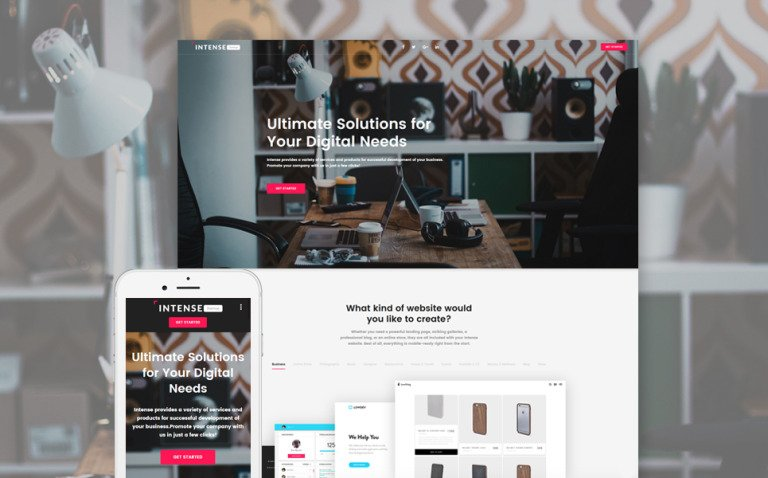 Business Responsive Landing Page Template New Screenshots BIG