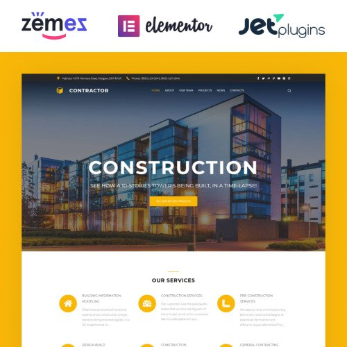 Contractor  - Responsive WordPress Template