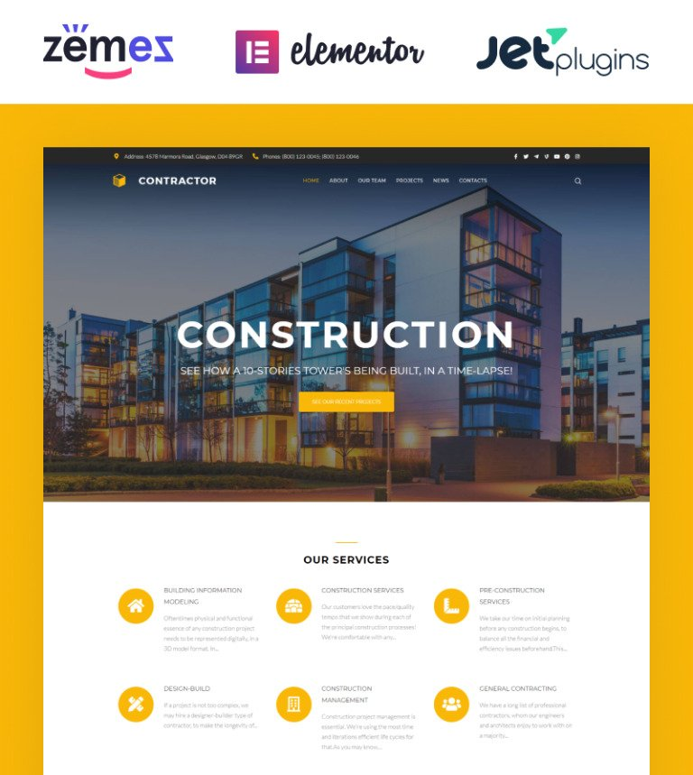 Building Company WordPress Theme