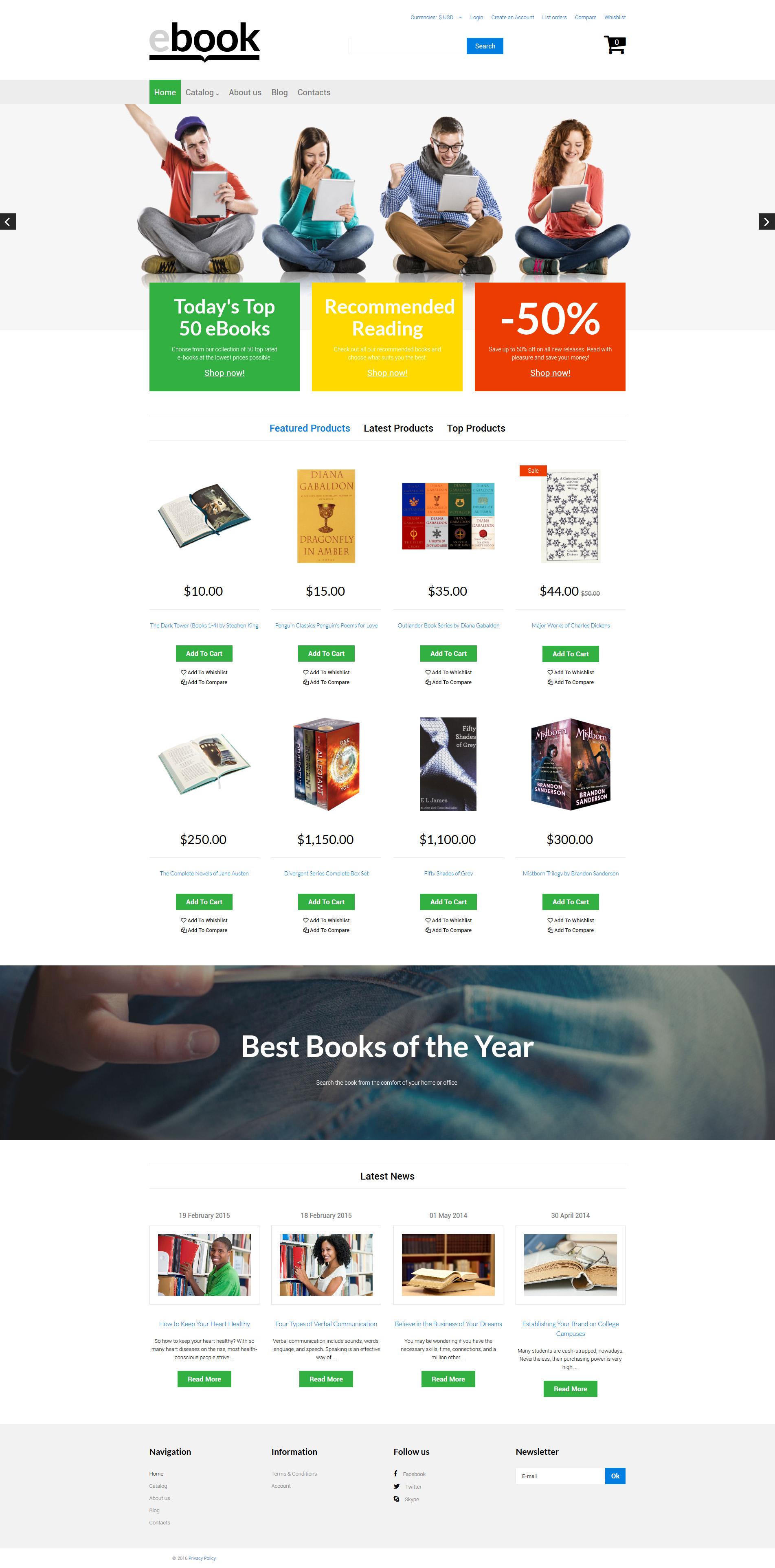 """Ebook"" - VirtueMart шаблон №61196"