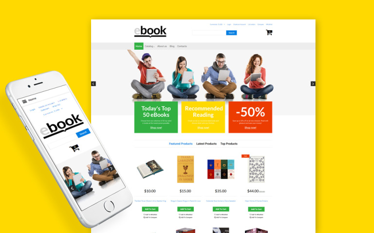 ebook VirtueMart Template New Screenshots BIG
