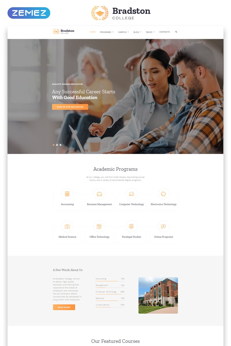 Education Website Templates | TemplateMonster