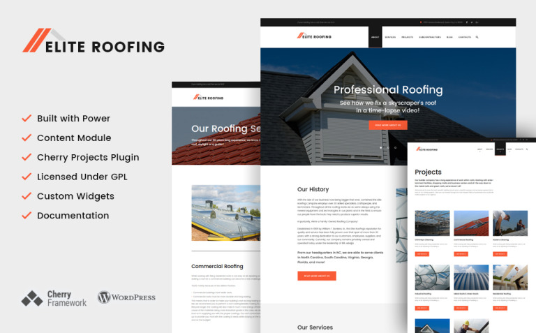 Elite Roofing Company WordPress Theme New Screenshots BIG