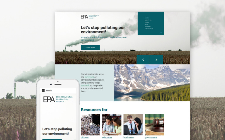 EPA Responsive Joomla Template New Screenshots BIG