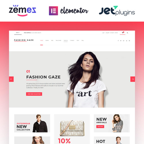 Fashion Gaze Apparel Store - Responsive WooCommerce Template