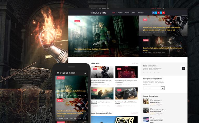 Finest Game Website Template New Screenshots BIG