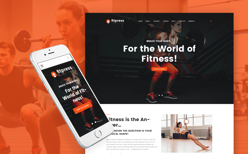 Fitpress - Fitness & Gym WordPress Theme