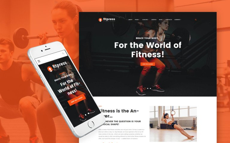 Fitpress - Fitness & Gym WordPress Theme New Screenshots BIG