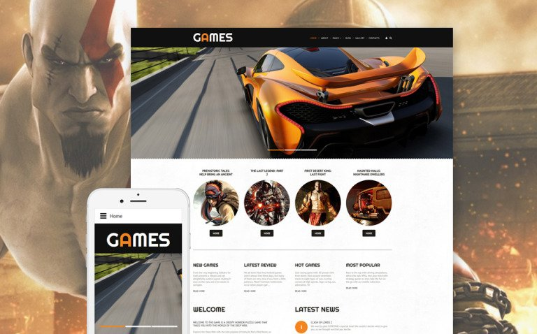 Games Joomla Template New Screenshots BIG