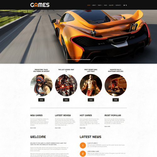 Games - Joomla! Template based on Bootstrap