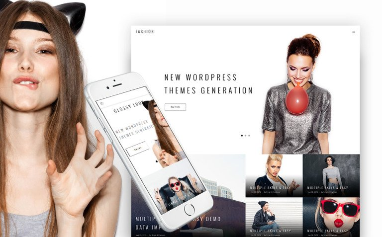 Glossy Look - Lifestyle & Fashion Blog WordPress Theme New Screenshots BIG