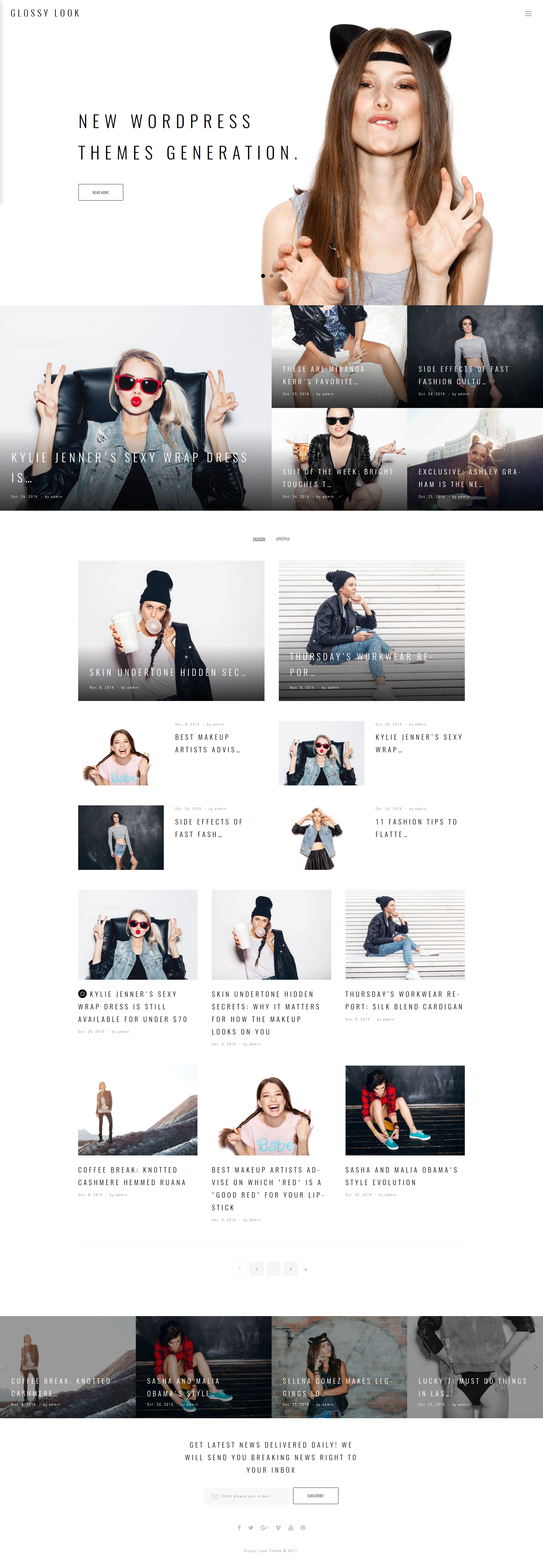 Glossy Look - Lifestyle & Fashion Blog WordPress Theme - screenshot
