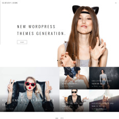 Top wordpress fashion blog themes templatemonster glossy look lifestyle fashion blog pronofoot35fo Choice Image