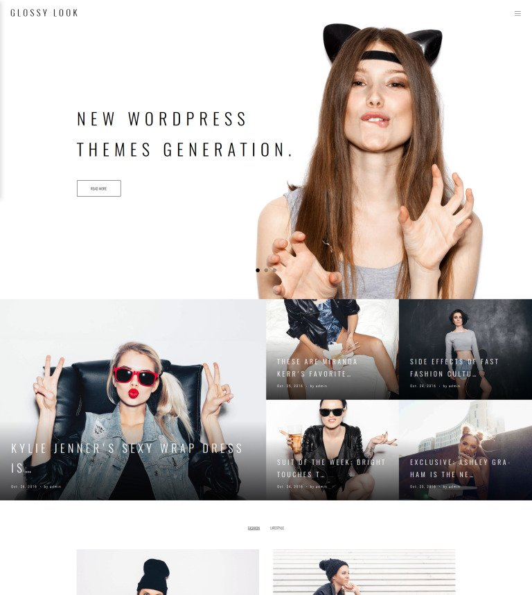 Glossy Look - Lifestyle & Fashion Blog WordPress Theme
