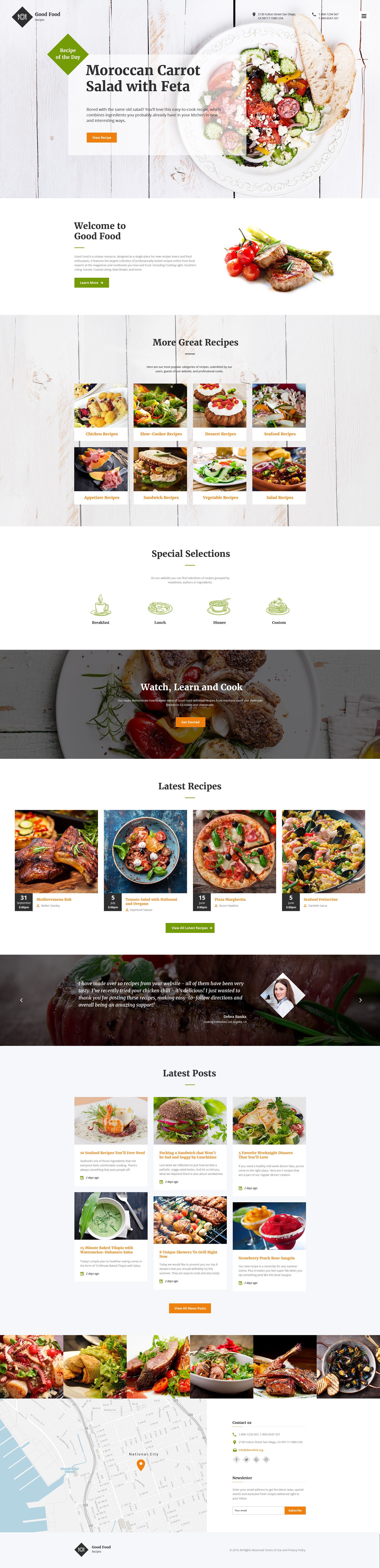 Good Food Website Template