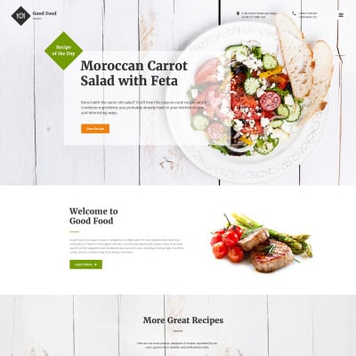 70 best food website templates drink website templates