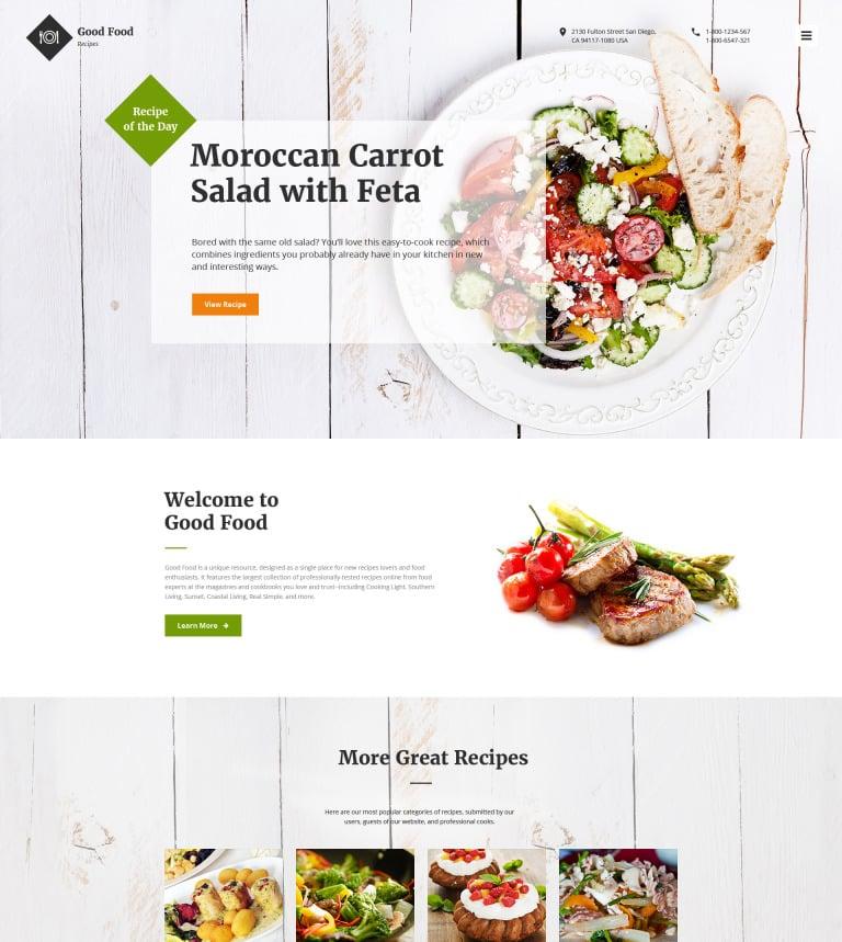 Good Food Website Template