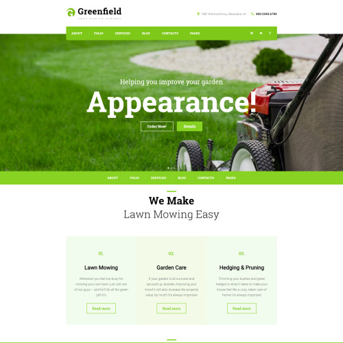 Greenfield - Responsive WordPress Template