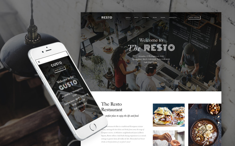 Gusto - Cafe & Restaurant WordPress Theme New Screenshots BIG