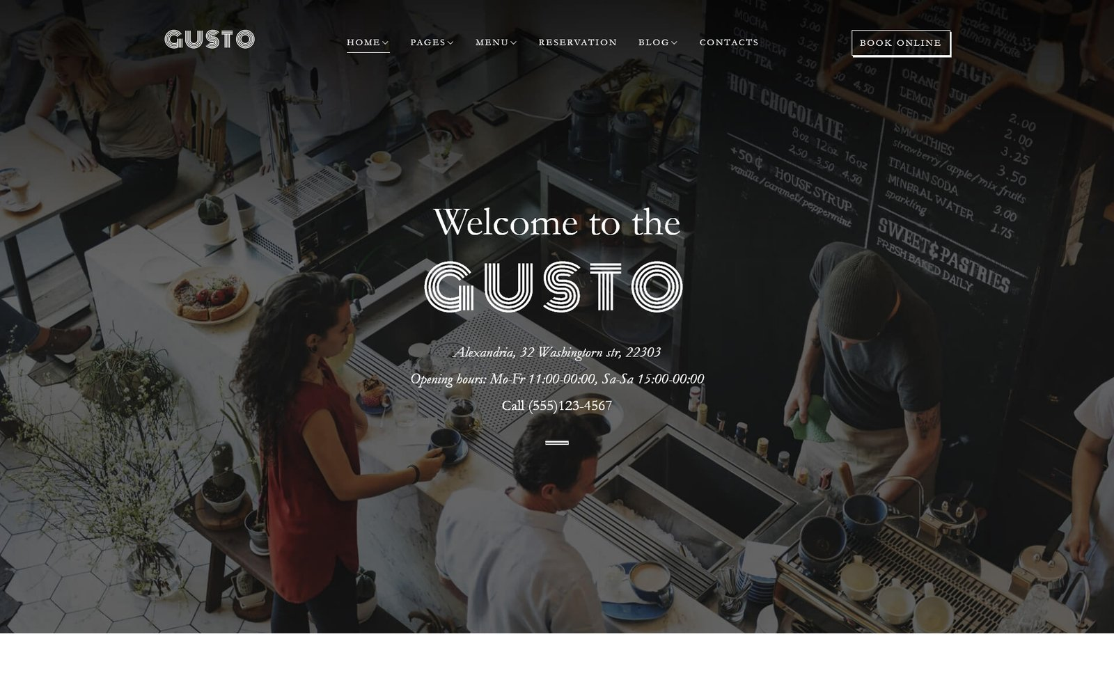 Gusto - Cafe & Restaurant WordPress Theme - screenshot