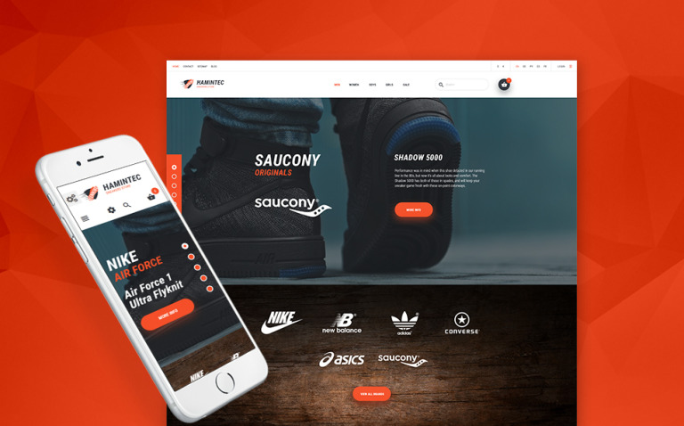 Hamintec - Sneakers Store PrestaShop Theme New Screenshots BIG