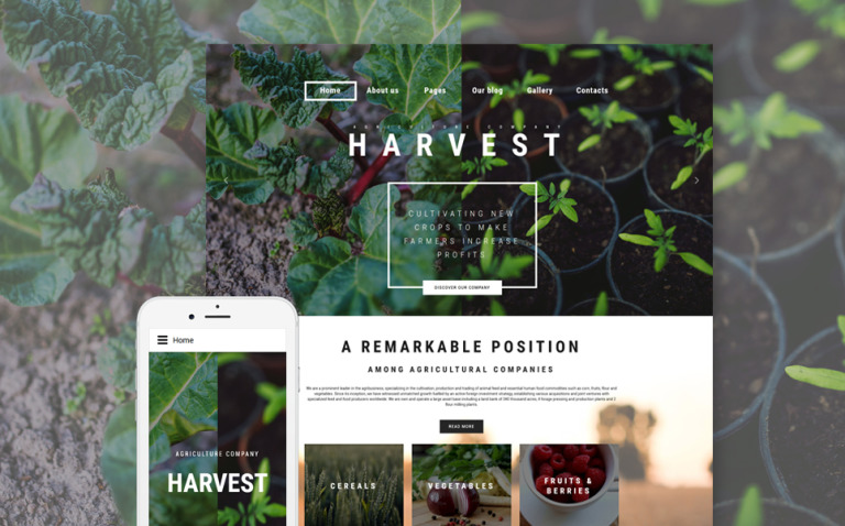 Harvest - Agriculture company Joomla Template New Screenshots BIG