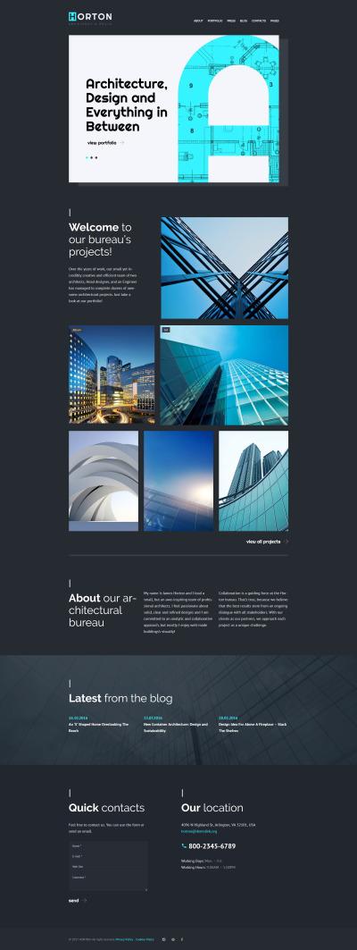 Flexível tema WordPress №61118 para Sites de Arquitetura