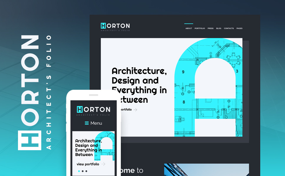 Horton - Architect Personal Portfolio WordPress Theme New Screenshots BIG