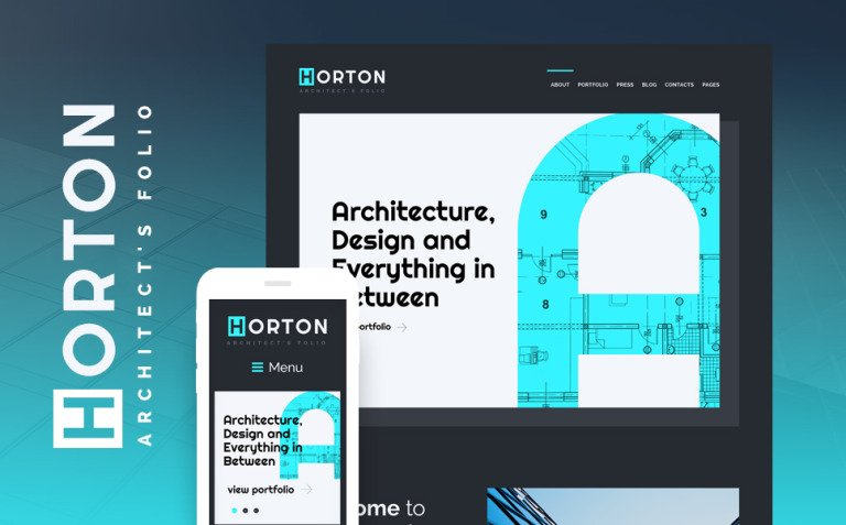 Horton - Architect Personal Portfolio WordPress Theme New Screenshots BIG