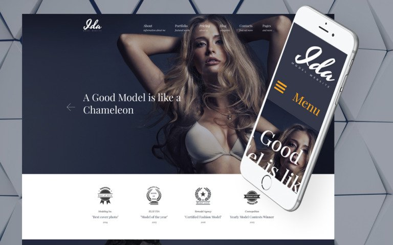 Ida - Model Photo Portfolio WordPress Theme New Screenshots BIG