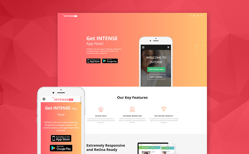 Mobile dating landing pages
