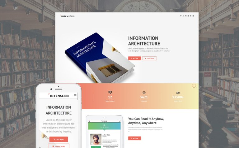 Intense Book Landing Page Template New Screenshots BIG