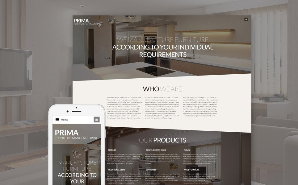 Interior design & furniture Joomla Template New Screenshots BIG