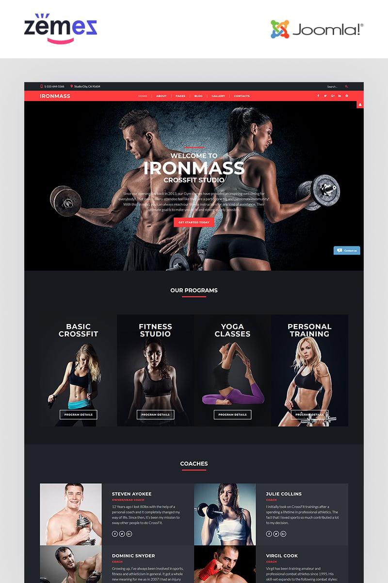 """IronMass - Fitness"" - адаптивний Joomla шаблон №61198"