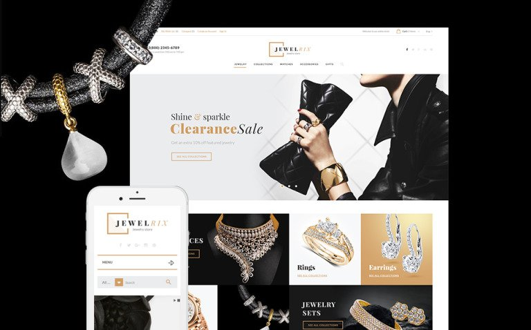 Jewelrix - Jewelry Store PrestaShop Theme New Screenshots BIG