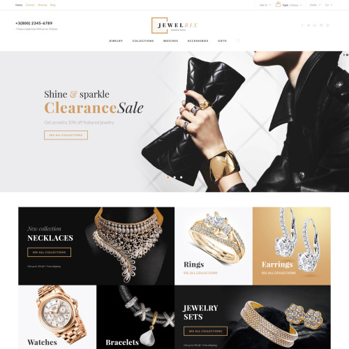 Jewelrix  - PrestaShop Template based on Bootstrap